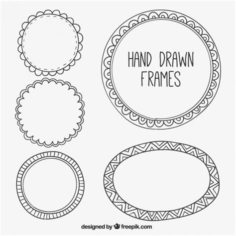 how to create a vector decorative frame in illustrator set of decorative hand drawn frames vector free download