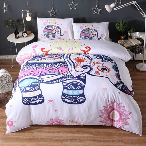 hippie bed sets tribal elephant indian god ganesha boho mandala golden