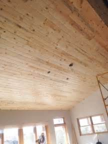Tongue And Groove Pine Ceiling Planks by Pine Planks On Vaulted Ceiling Lucky