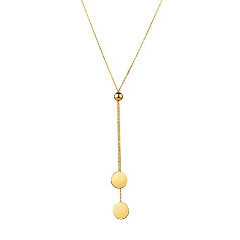 necklace for adjustable necklace in 10ct yellow gold