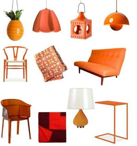 orange decor home and garden