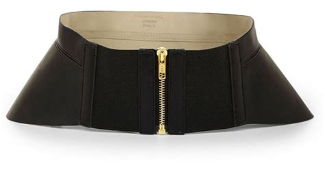 Mooi 29 Cmultra Corset Belt bcbgmaxazria zip corset waist belt in black lyst