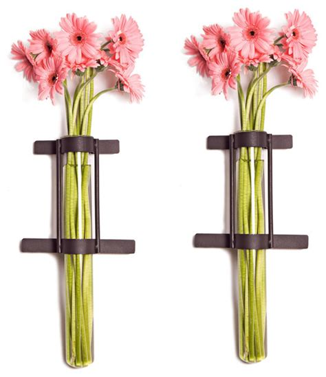 Vase Stand Decor Vase Flower Vase Wall Mounted Cylinder Glass Vases With Rings Metal Stand