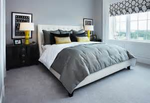 Bedroom Designs With Grey Carpet Cheerful Sophistication 25 Gray And Yellow Bedrooms