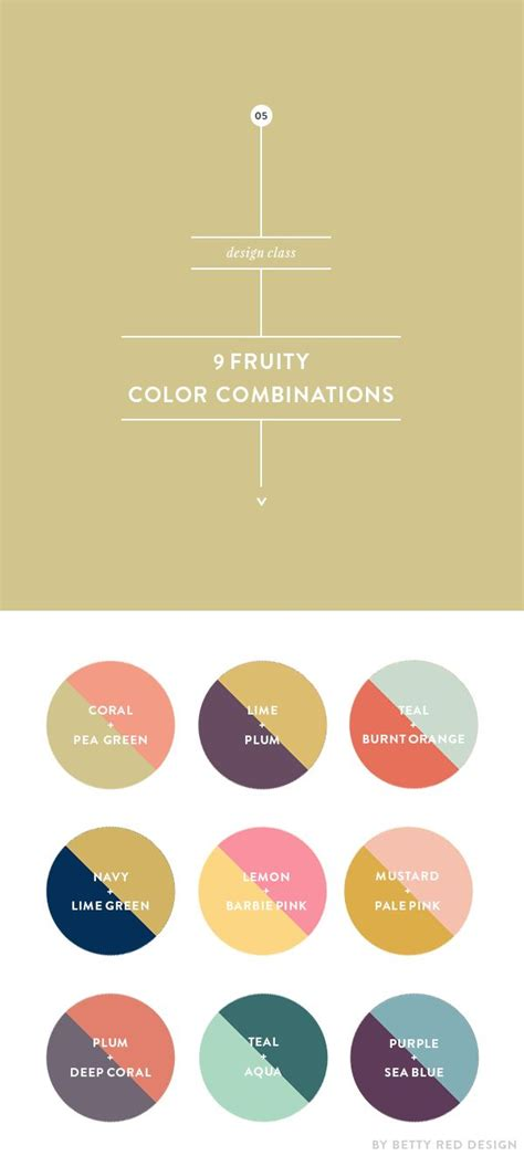 9 fruity color combinations design color design and feminine
