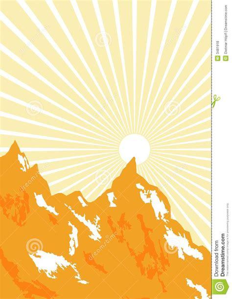 Grafische Bilder by Sunbeam Und Berge Grafisch Lizenzfreie Stockfotos Bild