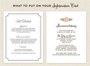 ideas to put on wedding invitations best 25 accommodations card ideas on