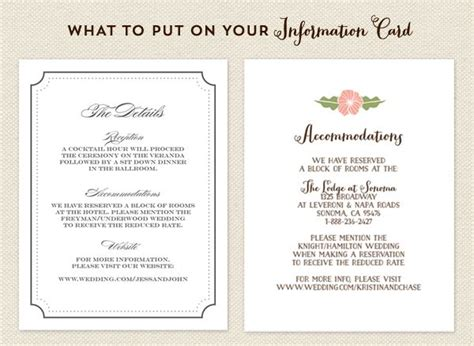what do you put on wedding invitation inserts 25 best ideas about accommodations card on my