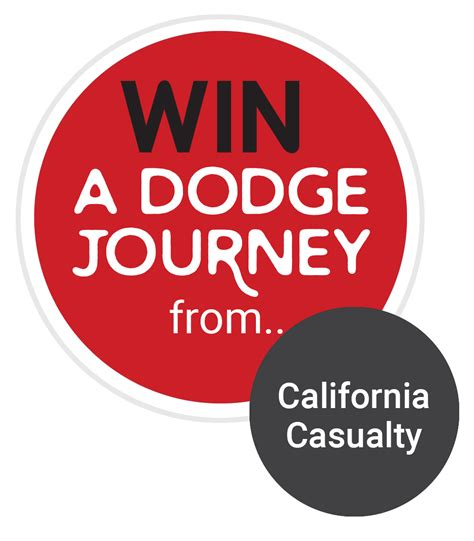 enter to win a dodge journey california casualty auto