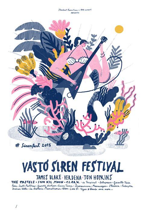 design poster using illustrator vasto siren festival on inspirationde