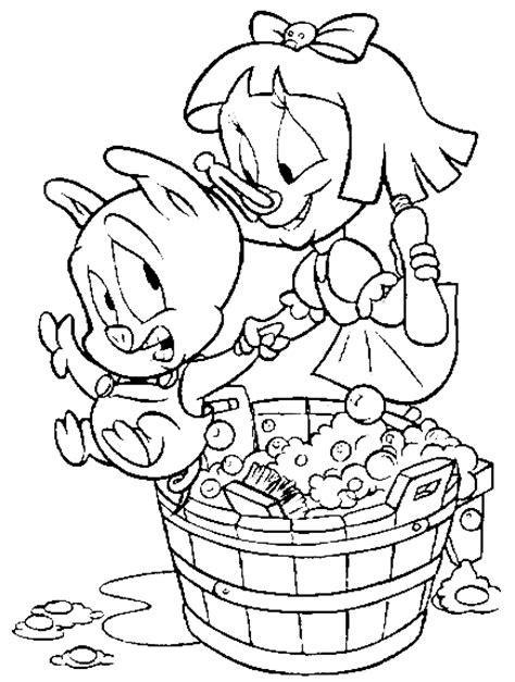 tiny toon characters coloring pages for kids