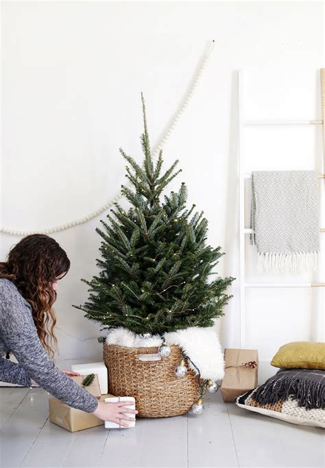 Ideas For Trees - a scandi chic tree for small spaces front