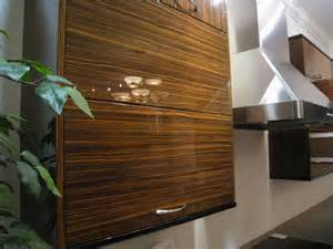 Exotic Wood Kitchen Cabinets by Cococozy Exotic Woods And Veneers Make A Bold Statement