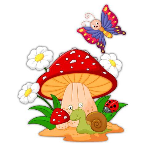 imagenes bonitas infantiles para niños seta margaritas caracol y mariposa
