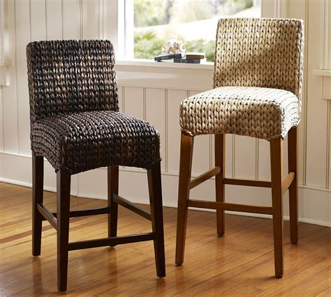 seagrass banana leaf or rattan bar stools with backs commercial furniture rattan bar stools clean and care