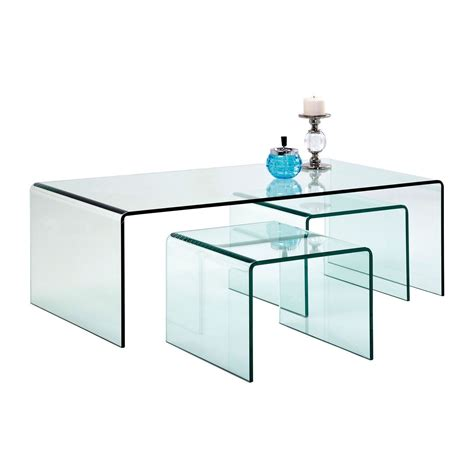 Table Basse Transparente But by Table Basse Contemporaine En Verre Clear Club Kare Design