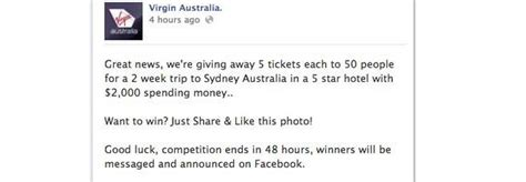 Android Security Giveaway Scam - facebook scam virgin australia tickets giveaway softpedia