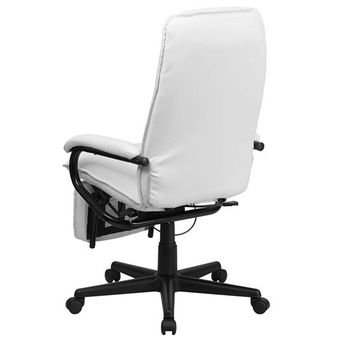 white executive desk chair ergonomic home high back white leather executive reclining