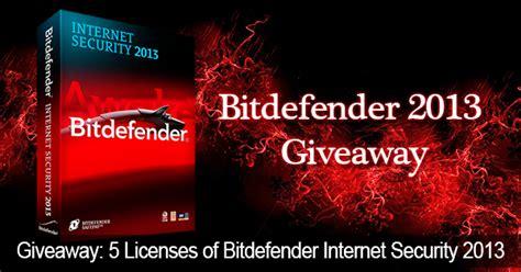 Internet Giveaways - giveaway 13 5 licenses of bitdefender internet security 2013