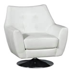 swivel chairs living room upholstered ontario 35 quot thomas white upholstered swivel chair
