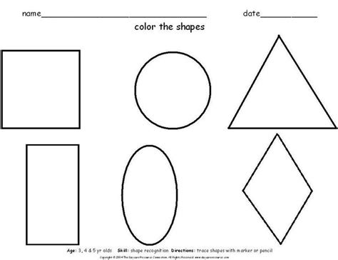 printable shapes for 3 year olds shapes landon schoolwork pinterest shapes for kids