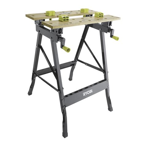 portable work bench ryobi foldable workbench with adjustable angle bunnings