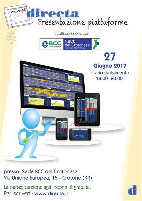crotonese credito cooperativo presentazione piattaforma directa per trading 187 la