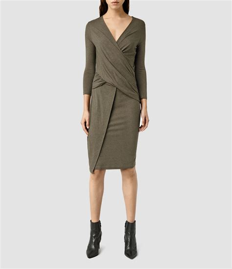 All Saints Tornquist Dresses by Lyst Allsaints Adria Dress Usa Usa In Green