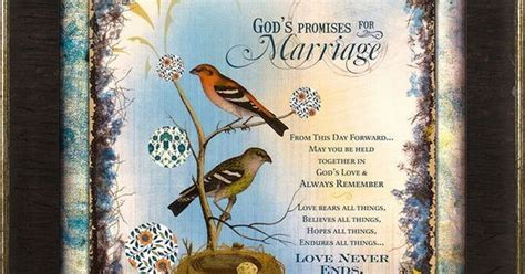 God's Promises (Marriage)   Framed Art & Wall Decor