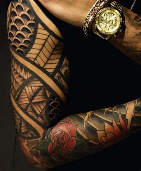japanese tribal sleeve tattoos 36 sleeve tattoos for guys with style tattooblend