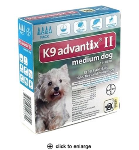 k9 advantix for dogs 11 20 lbs k9 advantix ii flea tick for medium dogs 11 20 lbs 4pk