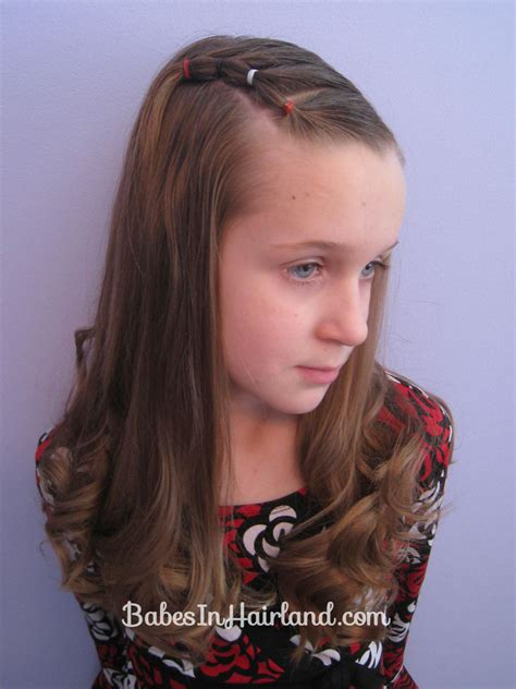 Puffy Bangs | bang pull back puffy braids on the side babes in hairland