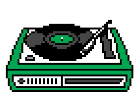 video player pattern items similar to retro record player cross stitch pattern
