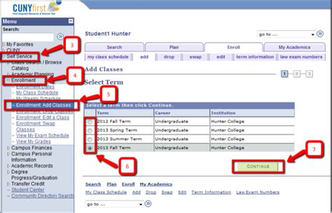 how to get your registered as a service register for classes college