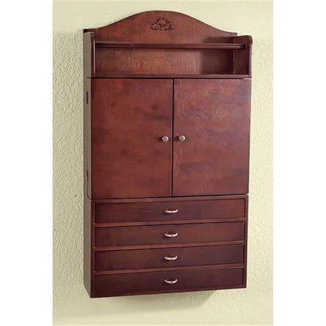 Wall Jewelry Armoires by Evangeline Wall Mount Jewelry Armoire 36475 Jewelry At