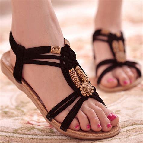 Sandal Wanita 1 sandal selop wanita flat bohemian summer size 38 black jakartanotebook