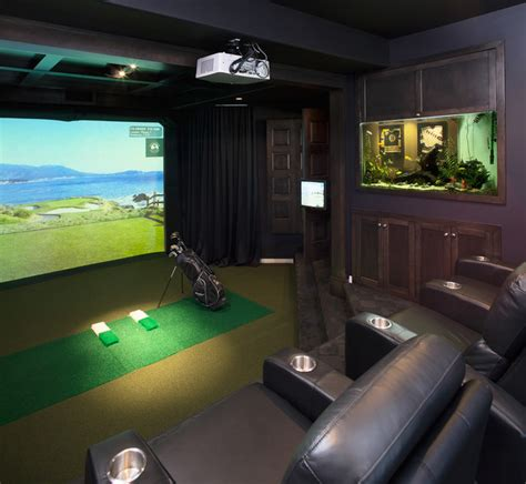room design simulator golf simulators traditional home theater calgary