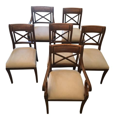 dining room chairs set of 6 baker regency dining room chairs set of 6 chairish