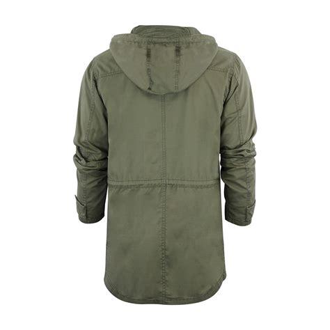 light cotton mens mens parka jacket brave soul powell light cotton hooded