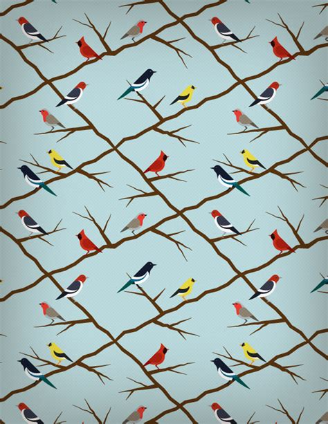seamless pattern design illustrator how to create a seamless bird pattern with retro touch in