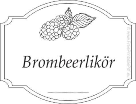 Sektflaschen Etiketten Drucken Kostenlos by Gratis Etiketten Vorlagen F 252 R Brombeerlik 246 R Pdf Drucken