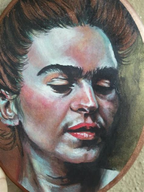 acrylic paint portrait frida kahlo acrylic painting foundmyself
