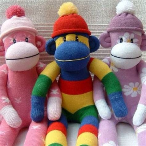 different sock animals different colors for sock monkey socks