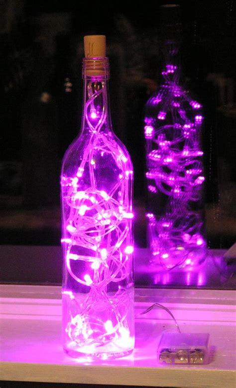 wine bottles with lights inside clear wine bottle light with pink led lights inside