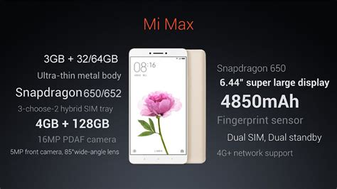 Fleksibel Finger Print Xiaomi Mi Max Original xiaomi mi max 6 44 inch 3gb ram 32gb rom snapdragon 650 hexa smartphone sale banggood