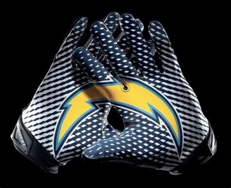 sd chargers mascot chargers new logo lock up gloves nike unis