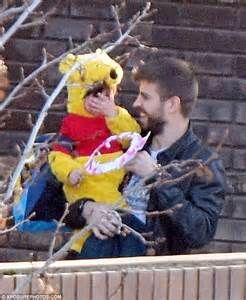Gerard pique spends quality time with son milan after welcoming second