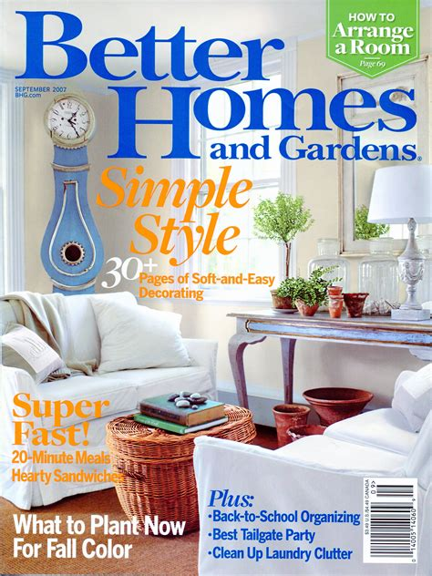 better homes and gardens september 2007