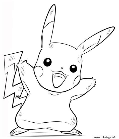 Coloriage Pikachu Pokemon Dessin