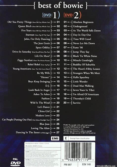 david bowie best of bowie david bowie best of bowie dvd opus3a